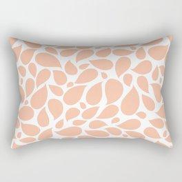 Paisley Drops Coral Rectangular Pillow