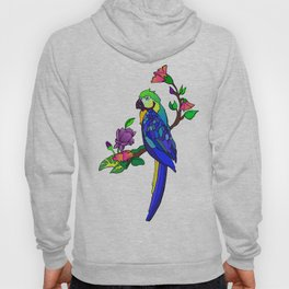 Tropical Bird (Blue and gold macaw) Hoody