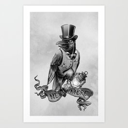 Nevermore. The Crow by E. A. Poe Art Print