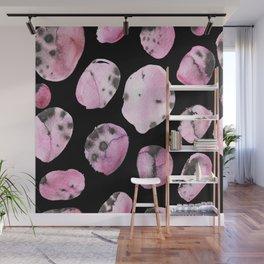 watercolor polka dots seamless pattern Wall Mural