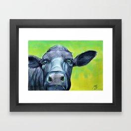 Curious (cow) Framed Art Print