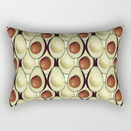 Avocado Pattern Vector Rectangular Pillow