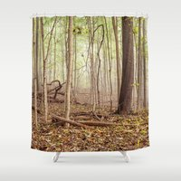 indiana Shower Curtains featuring Indiana woods by Bonnie Jakobsen-Martin