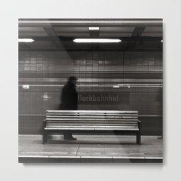 "GHOSTTRAIN of Berlin ""VACANCY"" zine Metal Print"