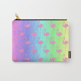 Rainbows And Flamingos Carry-All Pouch
