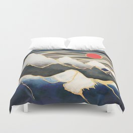 Ice Mountains Duvet Cover