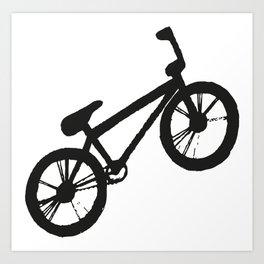 Bike black & white  Art Print