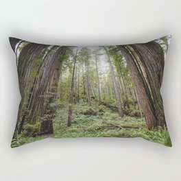 Fern Alley - Redwood Forest Nature Photography Rectangular Pillow