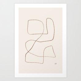 Bento - Abstract Line Drawing Art Print