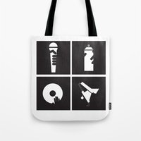hiphop Tote Bags featuring Style HipHop by Gold Blood