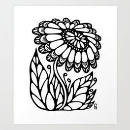 Black flower III Art Print