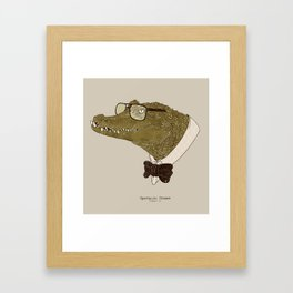 Spectacle(d) Caiman Framed Art Print