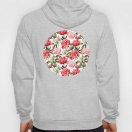 Peonies and Lilies - flower pattern no 1 Hoody
