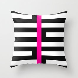 Licorice Bytes, No.17 in Black and Pink Throw Pillow