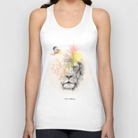 lion Tank Tops featuring lion  by mark ashkenazi