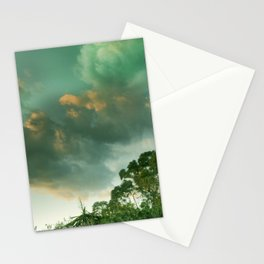 Windy sunset. Vintage Stationery Cards