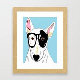 Hipster Bull Terrier Framed Art Print
