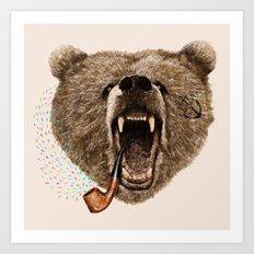 Angry Bear Art Print