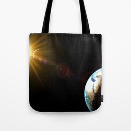 sun, earth and the moon Tote Bag