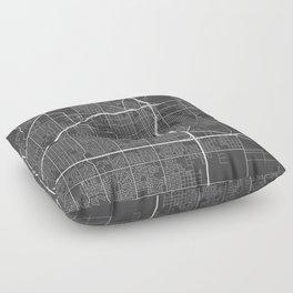 Lubbock Map, USA - Gray Floor Pillow