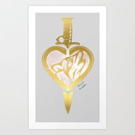 Heart N Dagger Wolf Art Print