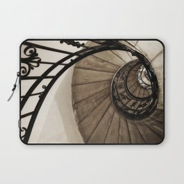 upwards - elegant old spiral staircase Laptop Sleeve