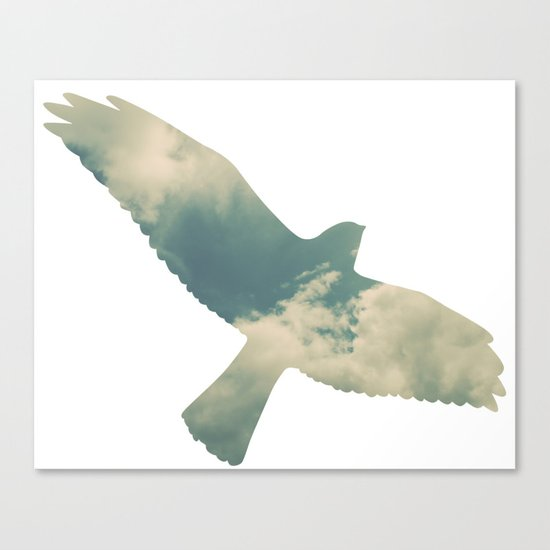 Cloud Bird Canvas Print