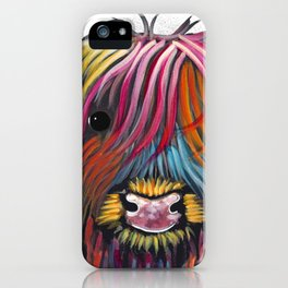 Scottish Highland Cow ' BRaVEHEaRT 2 ' by Shirley MacArthur iPhone Case