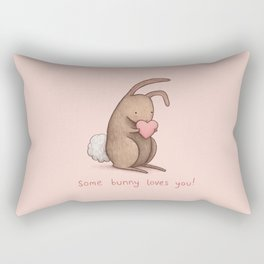 Some Bunny Loves You Rectangular Pillow