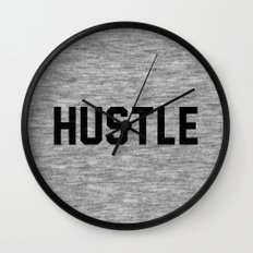 Hustle - light version Wall Clock