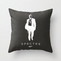 james bond Throw Pillows featuring 007 spectre  James Bond by :: Fan art ::