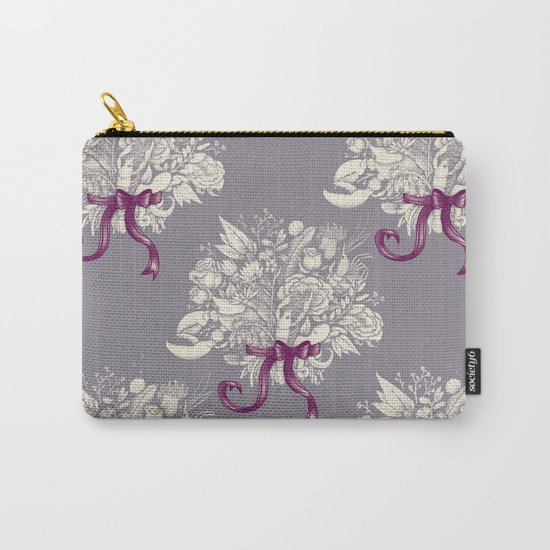 Undersea Victorian - gray Carry-All Pouch