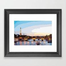The Seine River Framed Art Print