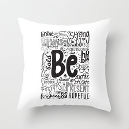 Lab No. 4 - Inspirational Positive Quotes Poster Throw Pillow