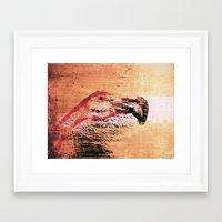 flamingo Framed Art Prints featuring Flamingo by Fernando Vieira