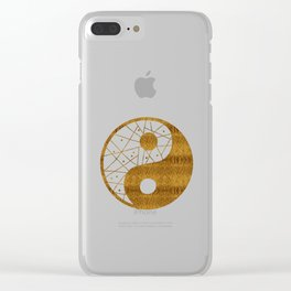 Abstract YIN AND YANG Taijitu Symbol | gold Clear iPhone Case