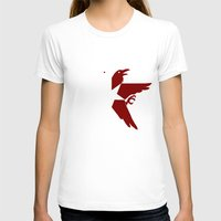infamous T-shirts featuring Infamous: Second Son - Jacket Bird Logo (Solid) by Dsavage94