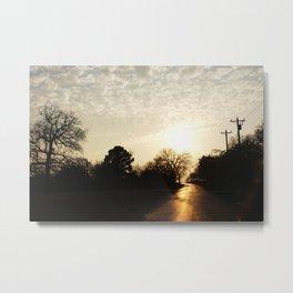 Sun Path Metal Print