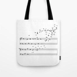 Natural Musical Notes Tote Bag