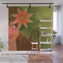 The Forest Girl Wall Mural