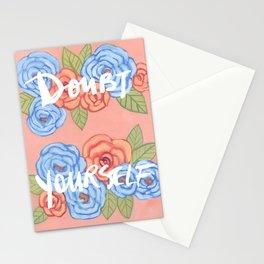Doubt Yourself - Motivational Illustration Stationery Cards