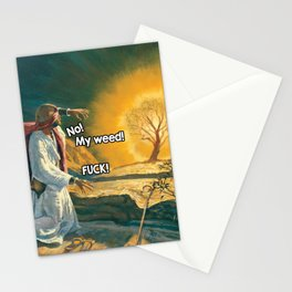 Moses and the Burning Bush (420 Parody) Stationery Cards