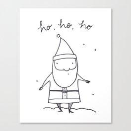 Christmas Ho, Ho, Ho (blk/wht) Canvas Print