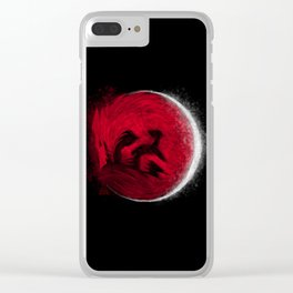 Super Blood Wolf Moon Clear iPhone Case
