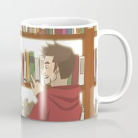subaru Mugs featuring FrostIron at the library by Subaru