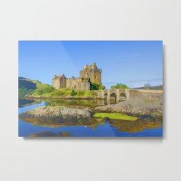 Eilean Donan Watercolour effect Metal Print