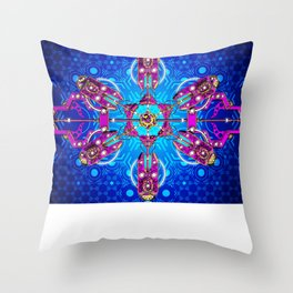 Geomatrix Analogue 2 Throw Pillow