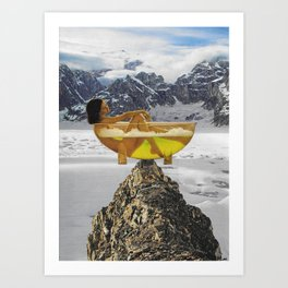 MISTY MOUNTAIN TOP Art Print