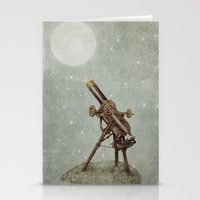 moonrise Stationery Cards featuring Moonrise by Eric Fan