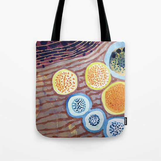 Still Life With Dotted Fruits Tote Bag